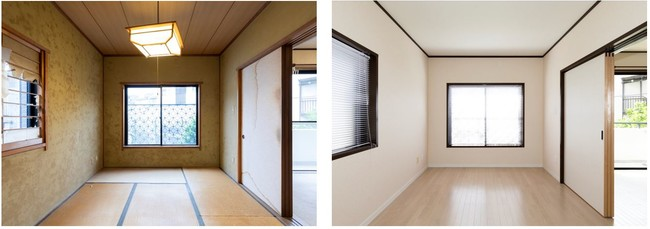 【(左)Before、(右)After】和室