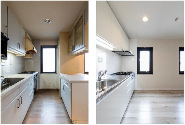 【(左)Before、(右)After】キッチン