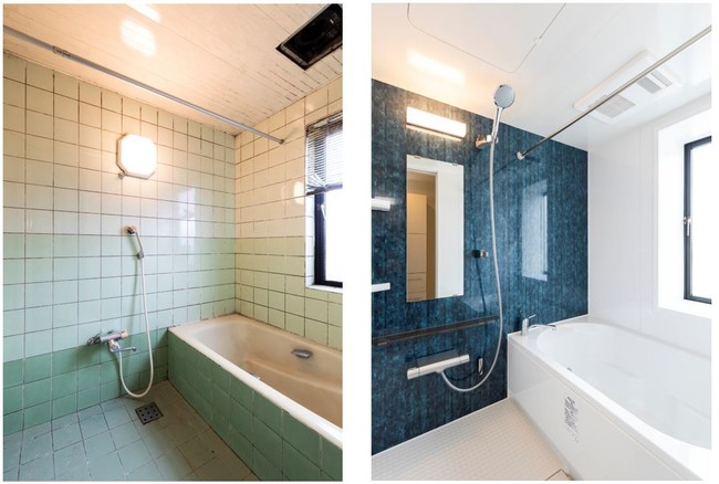 【(左)Before、(右)After】浴室