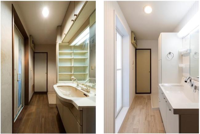 【(左)Before、(右)After】洗面所