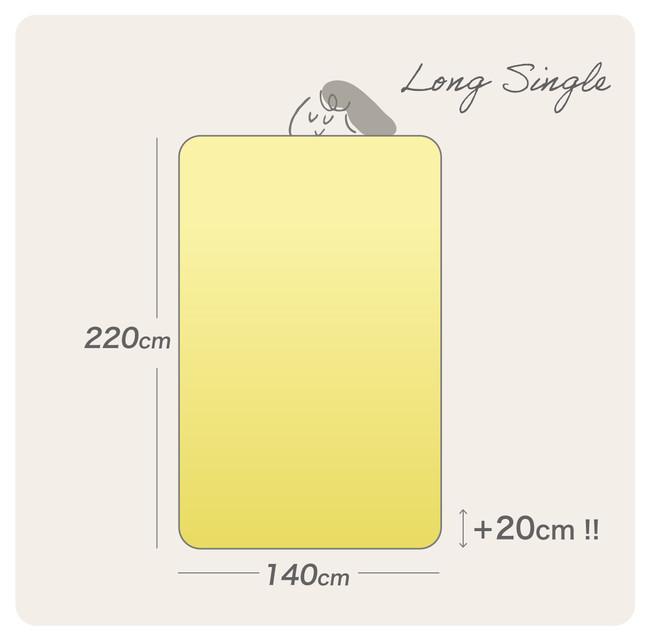 ちょっと長めのロングサイズだから、足先までスッポリと覆えます。