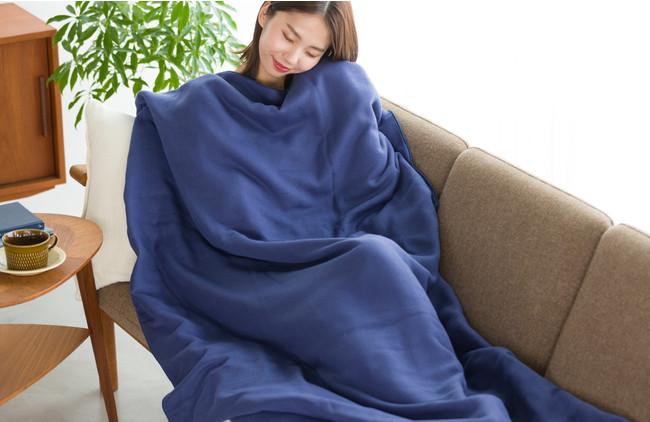 全身をすっぽり包みたくなるガーゼ毛布