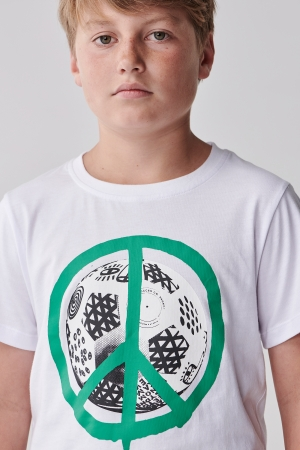 Kids Drop Balls Not Bombs Tシャツ White 価格 4,300円+税