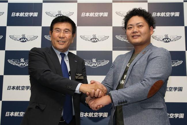 左:日本航空学園 梅沢 重雄、右:N.G.H 日淺 二郎