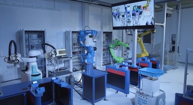 展示品;次世代DXコンセプトライン「DX型ロボットジョブショップ」