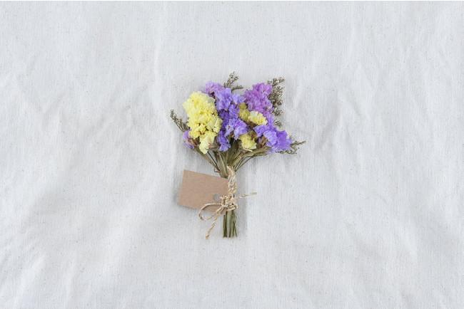 ドライフラワーで定番のスターチス。お花の監修を行なう生花青果は生産量日本一!一足早い春をお持ち帰り下さい♪