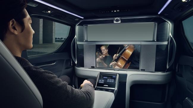 車室内のパーティション OFF状態 (写真提供:Lexus International)