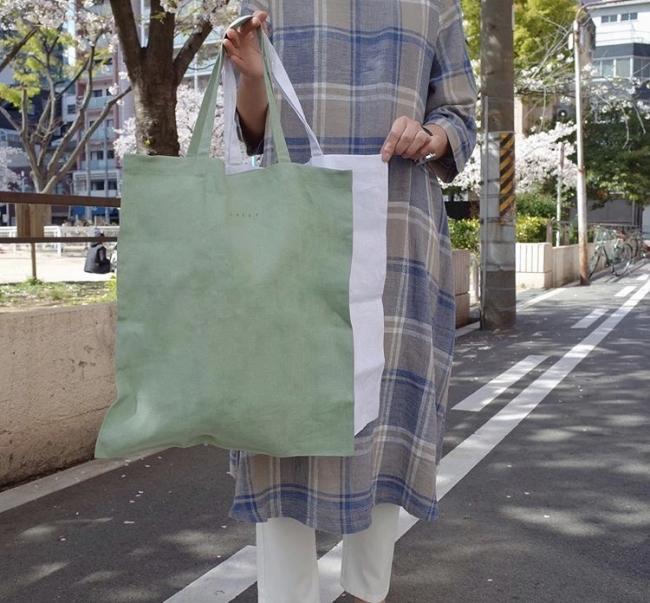 服の端切れで作ったエコバッグ