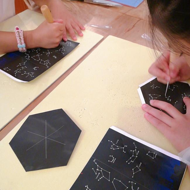 手作りプラネタリウムのワークショップ