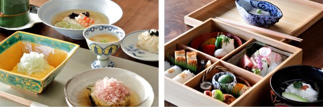 左:木乃婦特製朝食  右:木乃婦(きのぶ)特製仕出し弁当