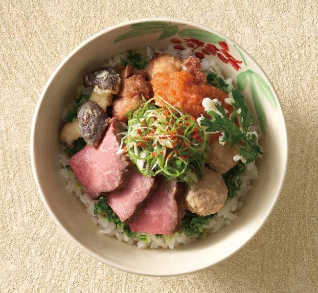"""食材から丼鉢まで""""森の京都""""にこだわった「日本料理 浮橋」で提供する「森の京都丼」"""