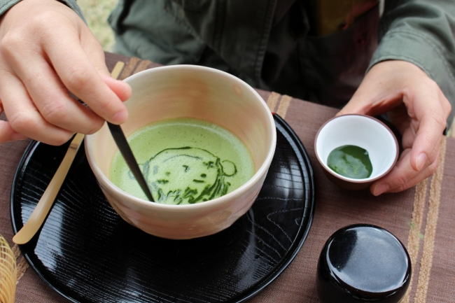 抹茶アート体験
