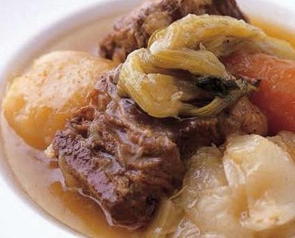京都府産牛バラ肉と海老芋の京味噌煮