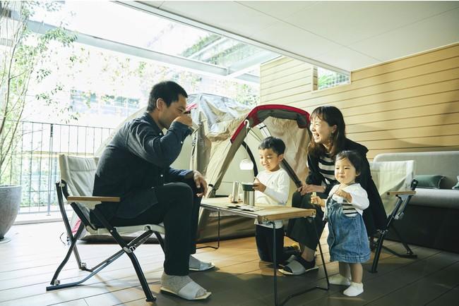 家族で楽しめるグランピングルーム