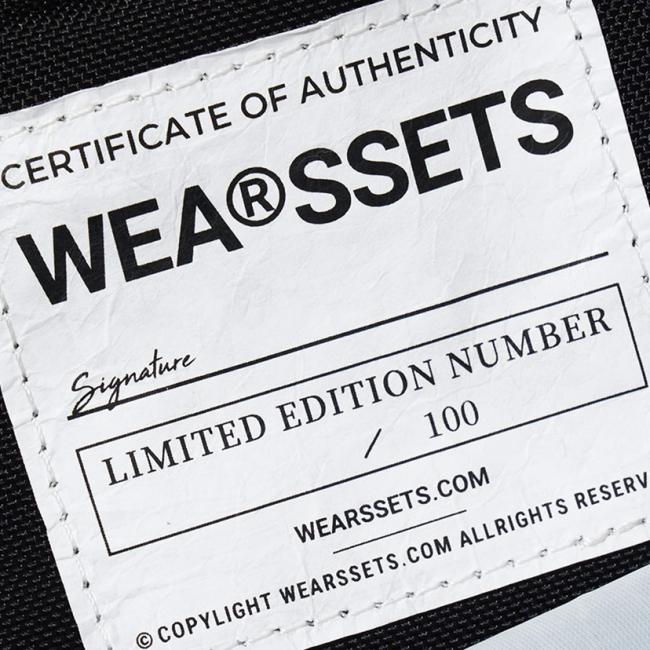 すべてのバッグにエディションナンバーが入ります。100個限定の貴重な商品。