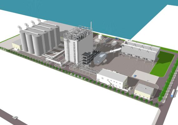 御前崎港バイオマス発電事業 イメージ図