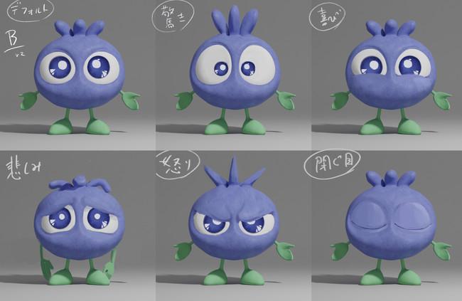 アニメ作品用に3Dモデリングされたブルブルくん