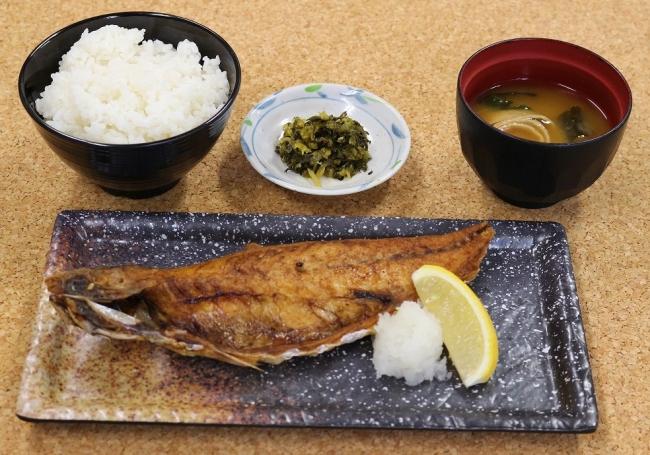 鯖(さば)文化干し定食 790円 (税込)