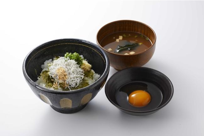 朝食 しらすの卵かけごはん(500円)