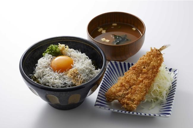 三河 しらす丼と三河フライ(990円)