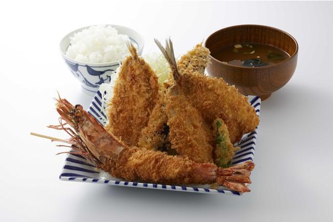 天然有頭海老(てんねんゆうとう)フライ定食 DX(1,990円)