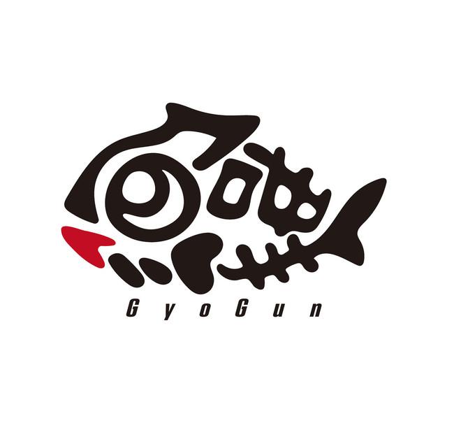 魚群キャラクターロゴ