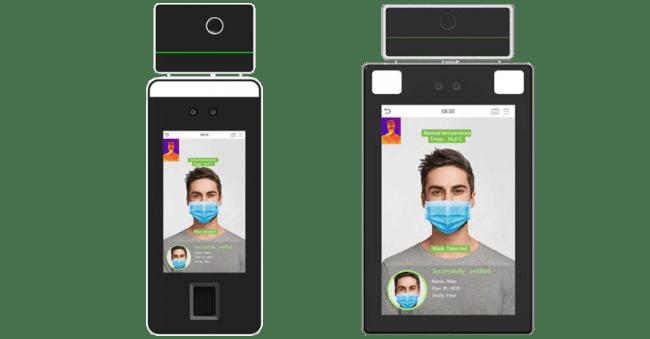 体温とマスクを検知するAI認証端末