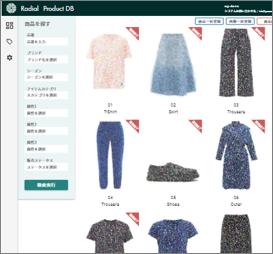 商品検索では、ユーザーが設定した様々な軸で商品を特定可能