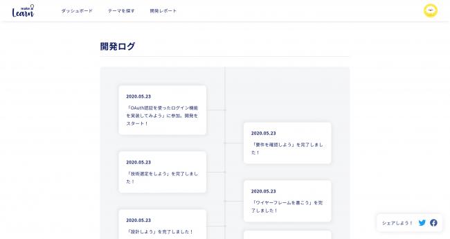 開発ログは作品ページで確認可能