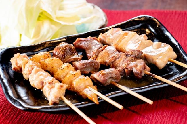塩セット(豚バラ串・豚タン串・砂ずり串・鶏ハラミ串・ぼんじり)