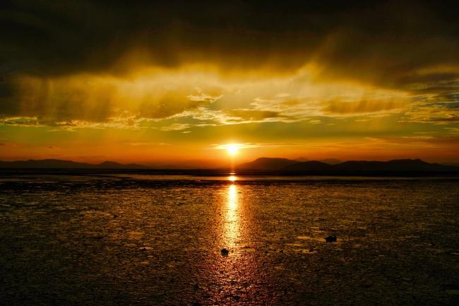 夕日を眺めながら宿泊体験