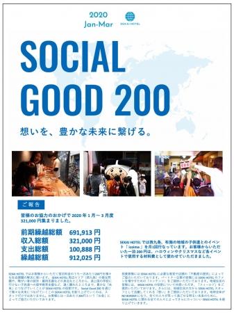 2020年3月時点でのSocial Good 200の報告書