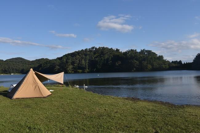 一人でテントに泊まります
