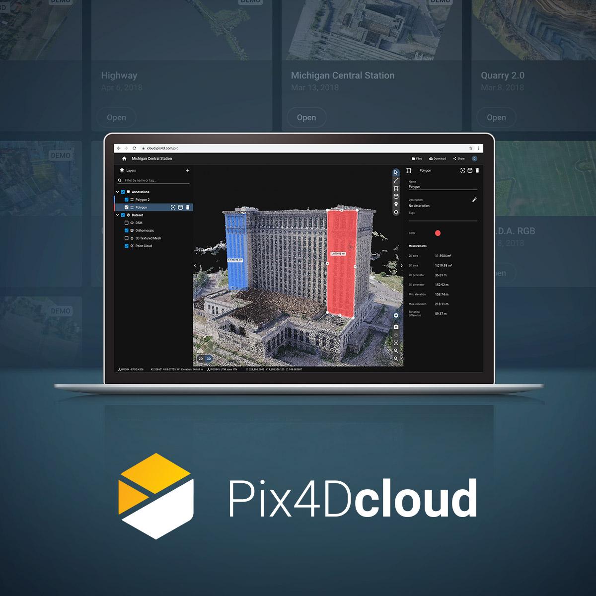 Pix4Dがスタンドアロンのフォトグラメトリー(SfM)クラウド処理ソリューションをリリース