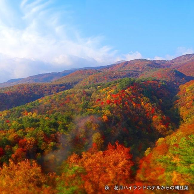 天上の紅葉はまさに絶景の一言(写真提供:高湯温泉観光協会)