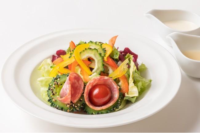 シュゼットサラミと夏野菜のサラダ
