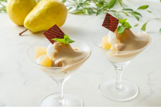 洋梨のパフェ 紅茶のエスプーマ
