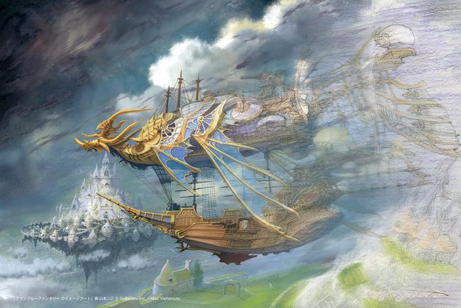 ▲山本二三氏描き下ろし『グランブルーファンタジー』のイメージアート