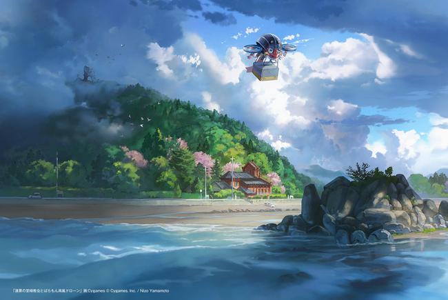 ▲サイゲームス描き下ろし『堂崎教会とばらもん凧風ドローン』