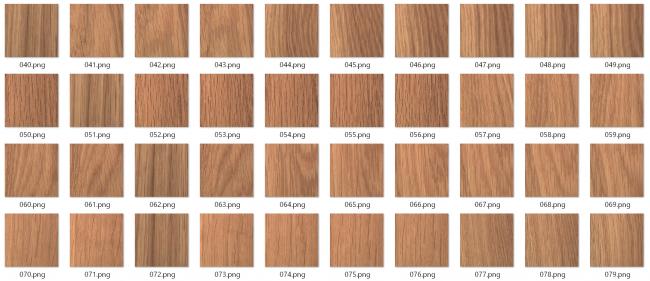 図1:良品画像 247枚の様々な木目の画像を学習させています。