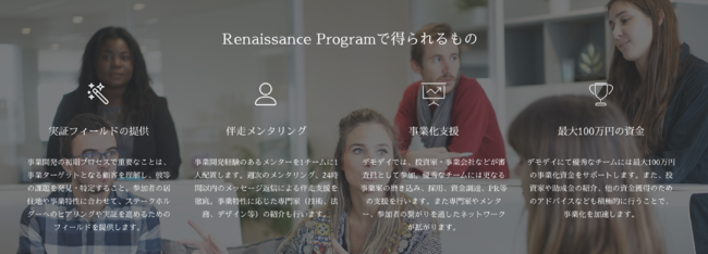 日本初の文化芸術事業インキュベーションプログラム Renaissance Program 2020