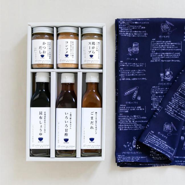 <ふろしき付>ゆとりのキッチン 調味料6本セットA 4,030円+税