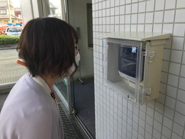 虹彩認証入退館システム(外側)