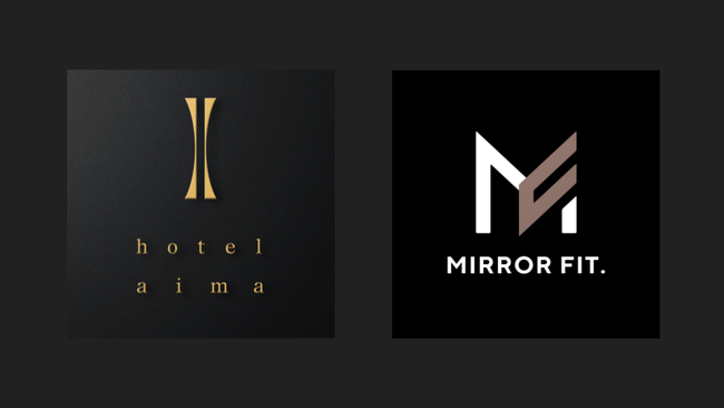 hotel aimaとMIRROR FIT. ロゴ