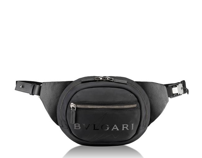 「FRAGMENT X BVLGARI」ベルトバッグ パフィーナイロン ブラック W21.5 x H16.5 x D6cm 125,000円