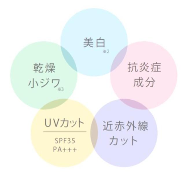 【マキアレイベル】薬用クリアエステヴェール_5つの機能