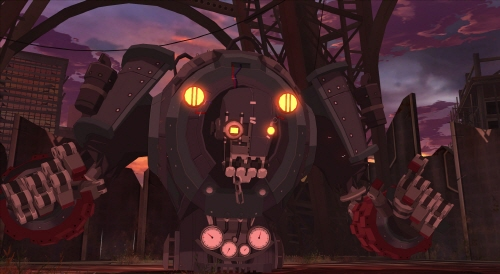 ゲーム内に登場する「ザ・ドゥーム」の姿。  新たな脅威にプレイヤー同士で協力して立ち向かおう!