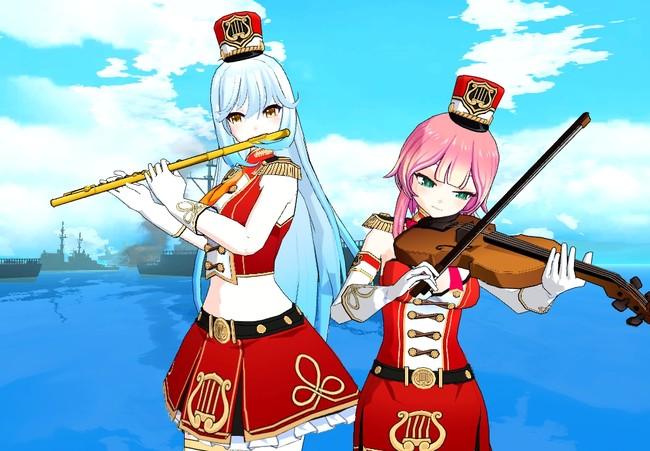 「情熱の軍楽隊」ジェスチャーを使用すると、それぞれ担当の楽器を演奏します!