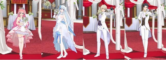 ゲーム内着用イメージ(チイ、エフネル、アーウィン、ジン)