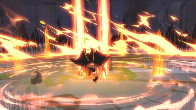 ハルのEXスキル「エクスティンクションプレリュード」:より強化された剣の雨と共に、彼女の一撃が敵を殲滅する。